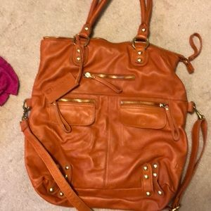 Orange linea pelle bag.
